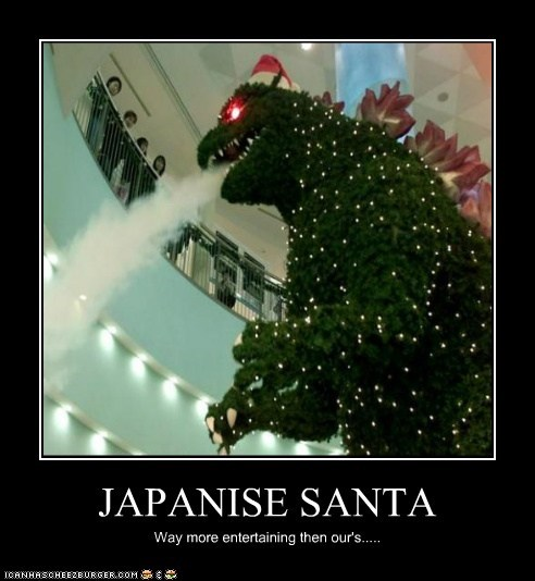 JAPANISE SANTA Way more entertaining then our's.....