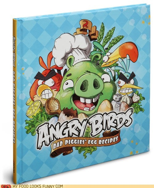 angry birds,book,cookbook,cooking,pig