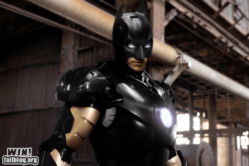 bat man cosplay custom DIY iron man mashup super heroes - 5531644160