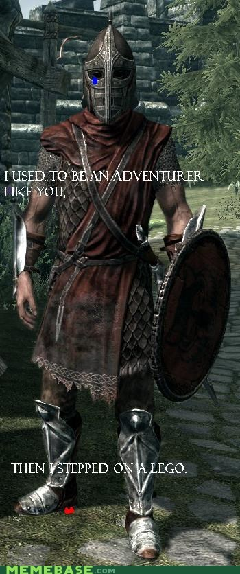 adventurer,arrow to the knee,Memes,Skyrim,video games