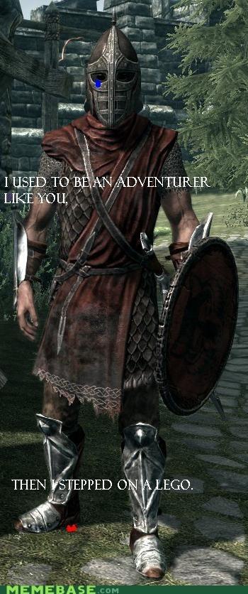 adventurer arrow to the knee Memes Skyrim video games - 5531768576
