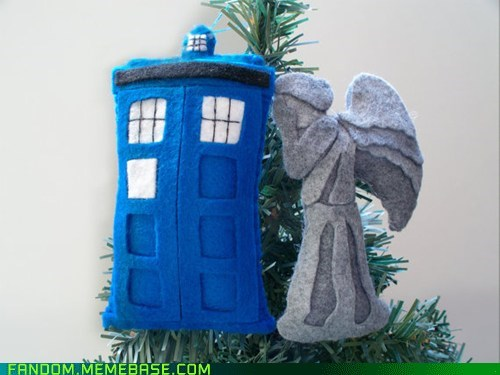 best of week,doctor who,Fan Art,ornament,tardis,weeping angel