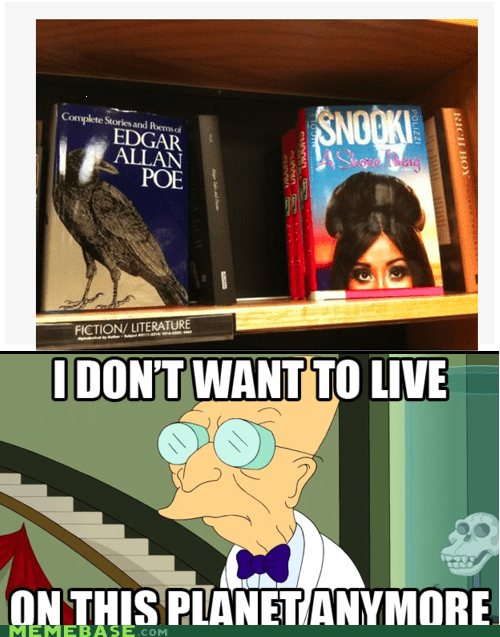 books Edgar Allan Poe i dont want to live on this planet anymore jersey shore raven snooki - 5532032512