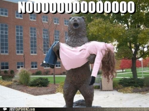 bear statue no noooooooo tradegy - 5532136192