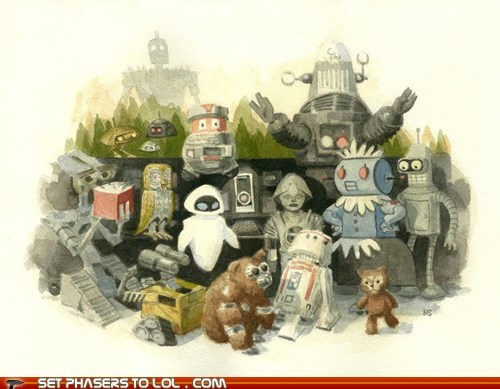 art companions drawings friends robots - 5532169216