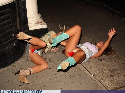 girls party out Drunk passed