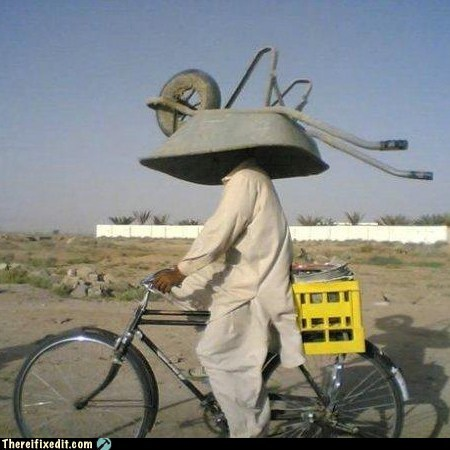 DIY dual use g rated helmet there I fixed it wheelbarrow - 5532373760