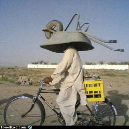 DIY dual use g rated helmet there I fixed it wheelbarrow - 5532373760