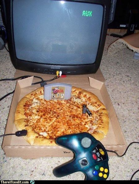food,Mad Science Monday,nintendo,pizza,video games