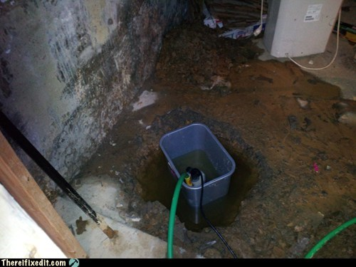 basement bucket flood flooding hose pump