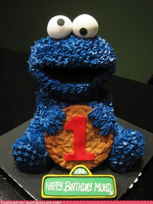cake cookies Cookie Monster epicute Sesame Street - 5533027072