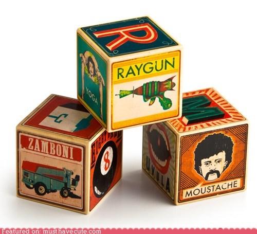 alphabet blocks kids learning letters retro toy - 5533272832