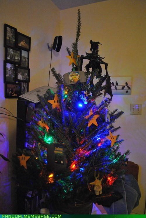 christmas,cute,It Came From the Interwebz,nerdy,nintendo,tree