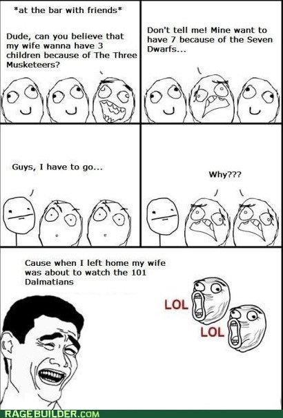 101 dalmations,childrens,movies,Rage Comics,wife
