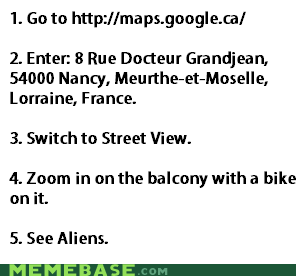 Aliens,france,google,Maps,wtf
