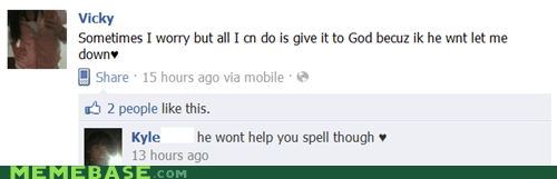 facebook god spelling worry - 5533538816