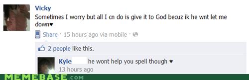 facebook god spelling worry - 5533538816