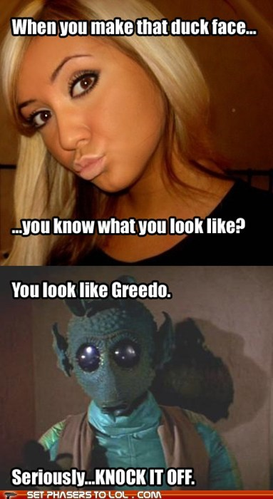 duck face girls greedo profile picture star wars - 5533719552