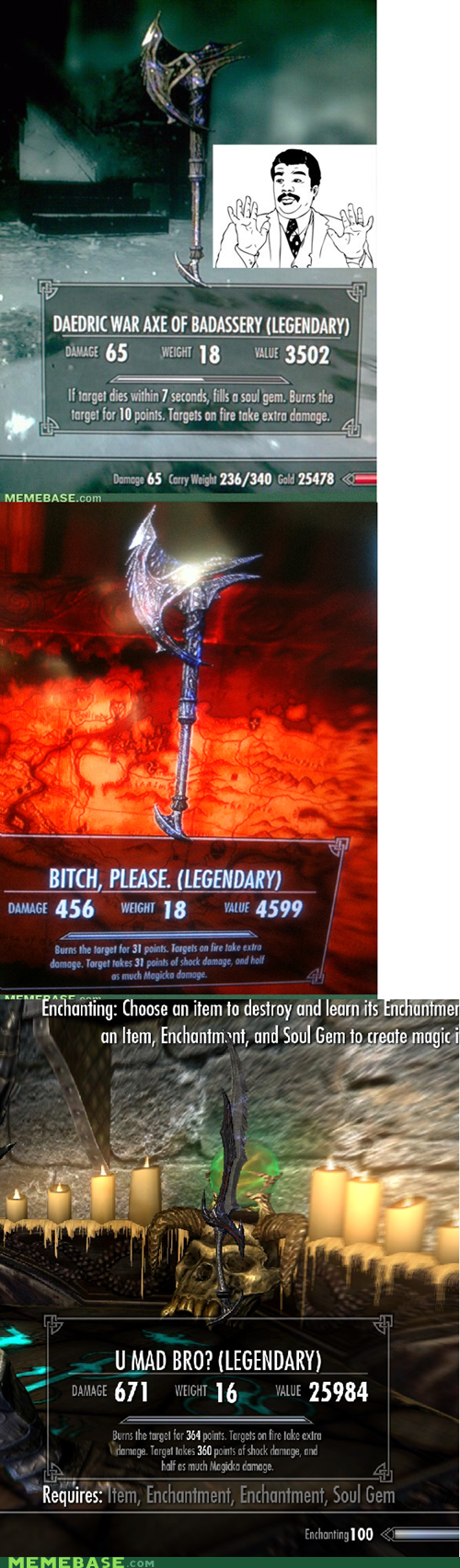 Badass please Reframe Skyrim u mad video games - 5533755392