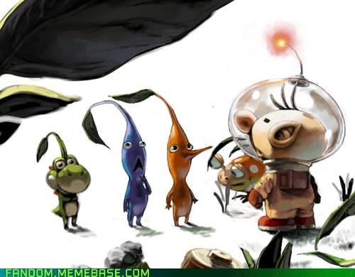 Fan Art nintendo pikmin video games yoshi - 5533852160