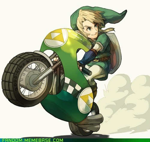 crossover Fan Art legend of zelda Mario Kart video games - 5533862656