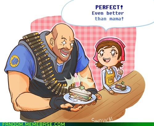 best of week,cooking mama,Fan Art,heavy,TF2,video games