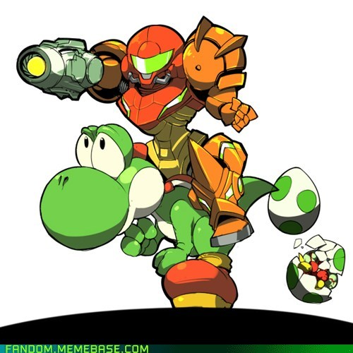 crossover Fan Art Metroid nintendo video games yoshi - 5533879808