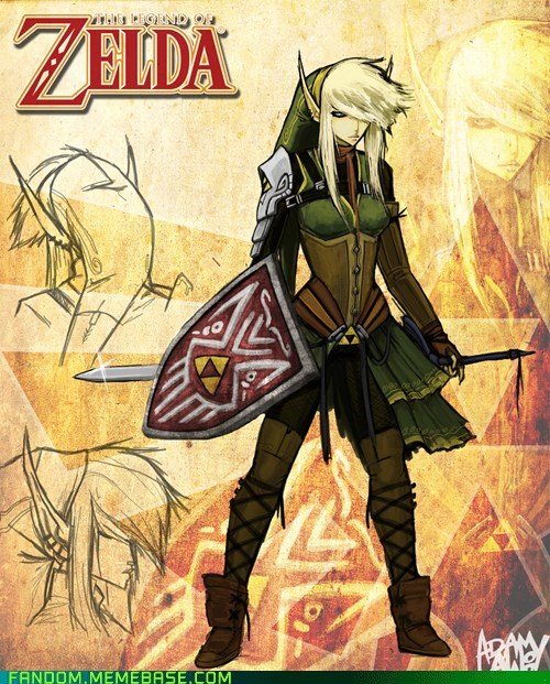Fan Art,girl,legend of zelda,link,rule 63