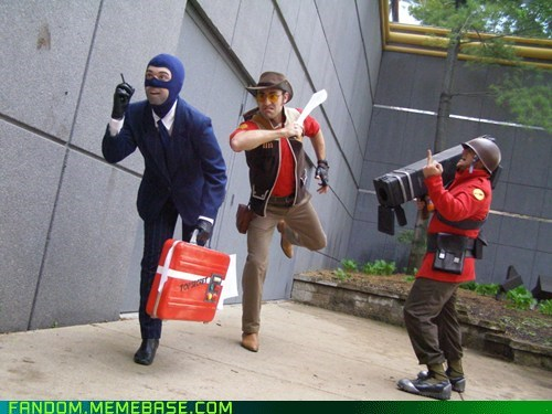 cosplay,sniper,soldier,spy,Team Fortress 2,TF2,valve,video games