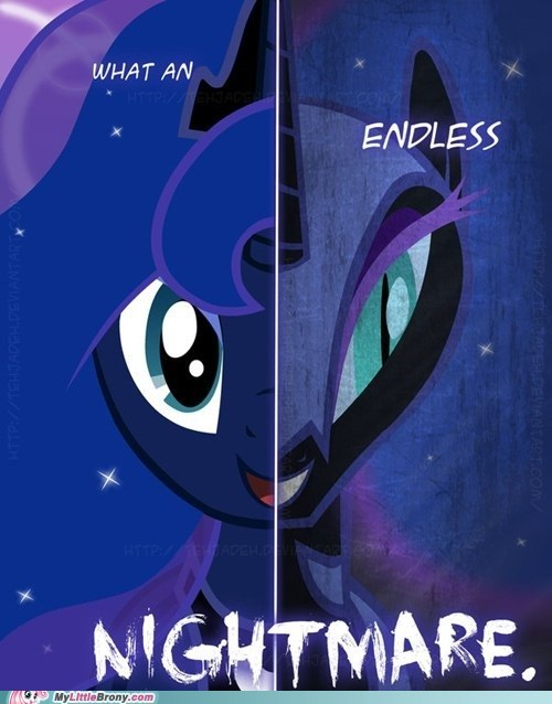 art endless nightmare luna nightmare moon two sides - 5533962240