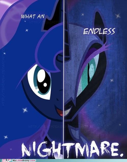 art endless nightmare luna nightmare moon two sides - 5533962240