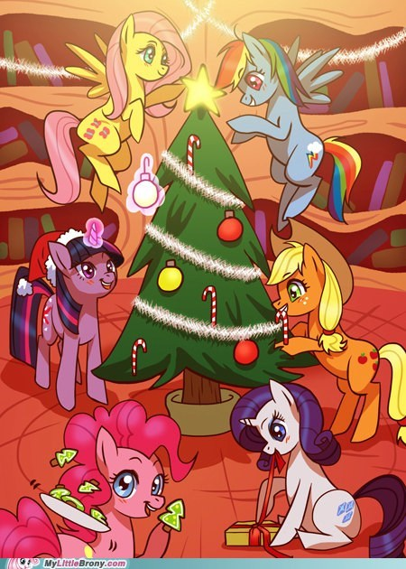 art best of week bronymas christmas cute mane six - 5534102528