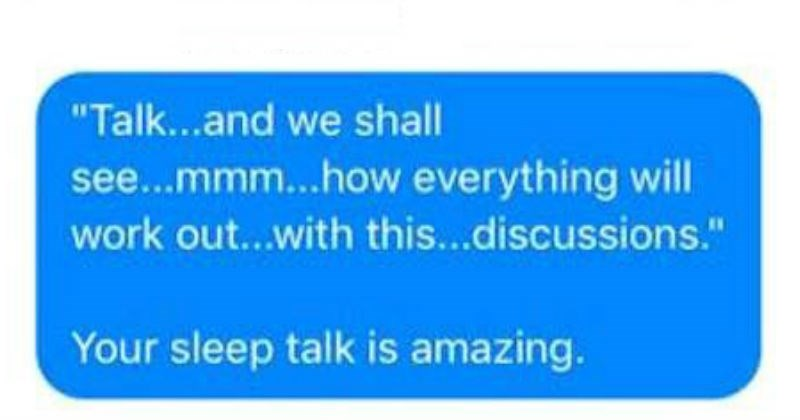 marriage wtf relatable cringe sleep talk ridiculous texting sleeping funny - 5534981