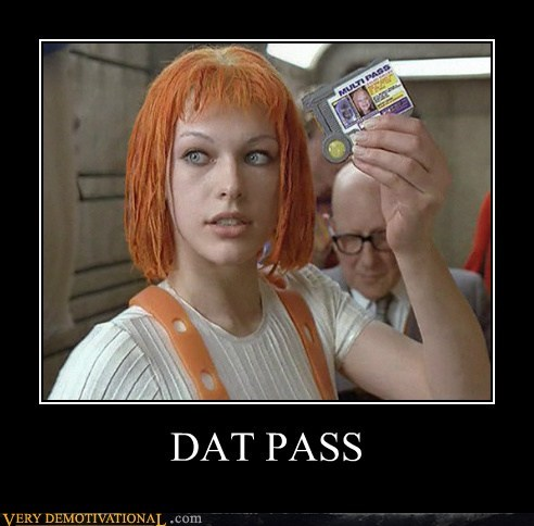 fifth element leeloo multipass Pure Awesome - 5535157504