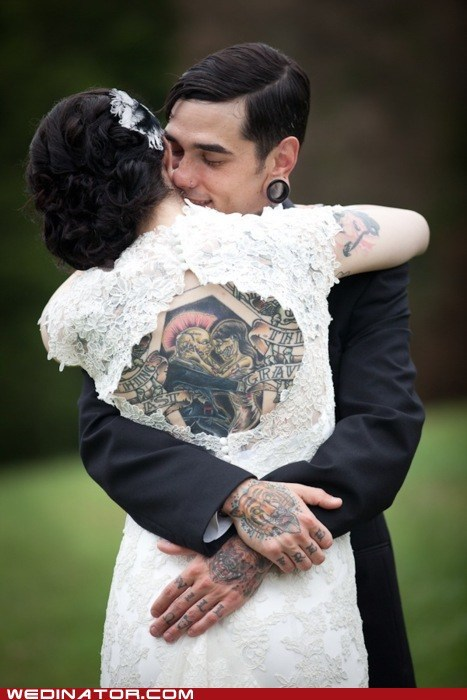 dress funny wedding photos tattoos weddings zombie - 5535616768