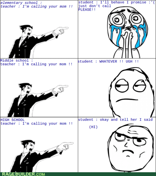 objection,parents,Rage Comics,school,truancy story