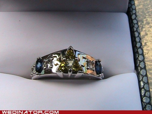 engagement ring funny wedding photos geek Hall of Fame ring triforce video games wedding ring zelda - 5535678208