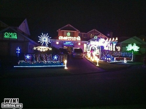 christmas,christmas decorations,clever,holidays,lights,response