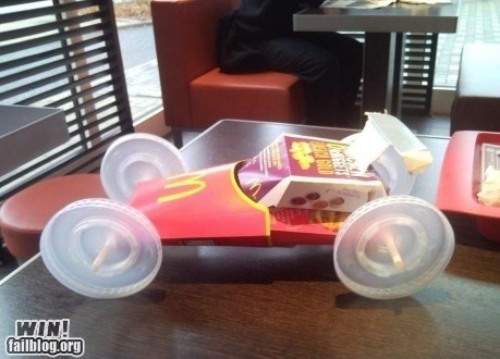 car,clever,design,DIY,engineering,fast food,food,garbage,trash