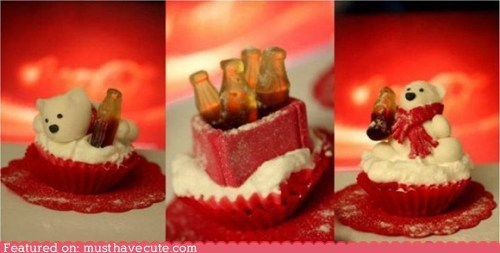 coca cola cupcakes epicute gummies polar bear - 5536226304