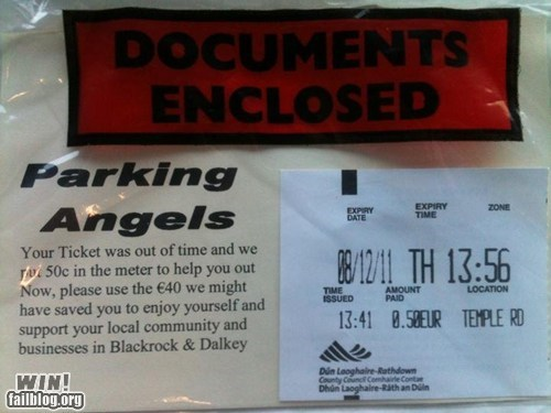 helpful nice parking parking ticket police Random Acts Of Kindness ticket