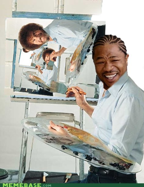 bob ross over and over painting ran out of paint yo dawg - 5536544768