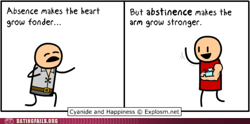 absence abstinence comic cyanide-happiness dating fapping love yourself the most masturbation shakespeare We Are Dating - 5536722176