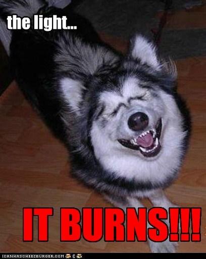 the light... IT BURNS!!!
