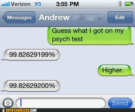 grade psych psychology school score smart ass test - 5536920832