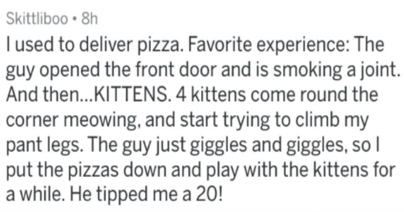 crazy surprising wtf pizza delivery cringe askreddit delivery - 5537285