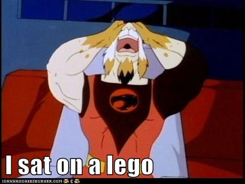 lego,lynx-o,pain,sit,stepped on a lego,thundercats