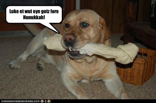 Luke et wut eye gotz fore Hunukkah!