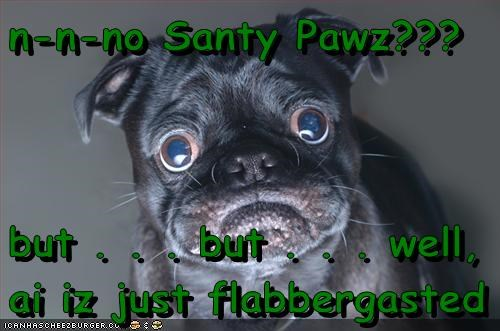 christmas,flabbergasted,no santa,pug,Sad Pug,santa,santa clause