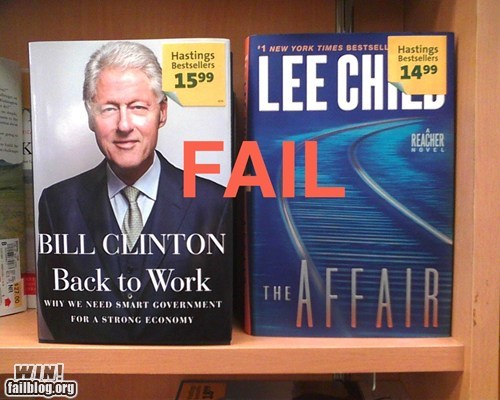 bill clinton,book,book store,politics,whoops